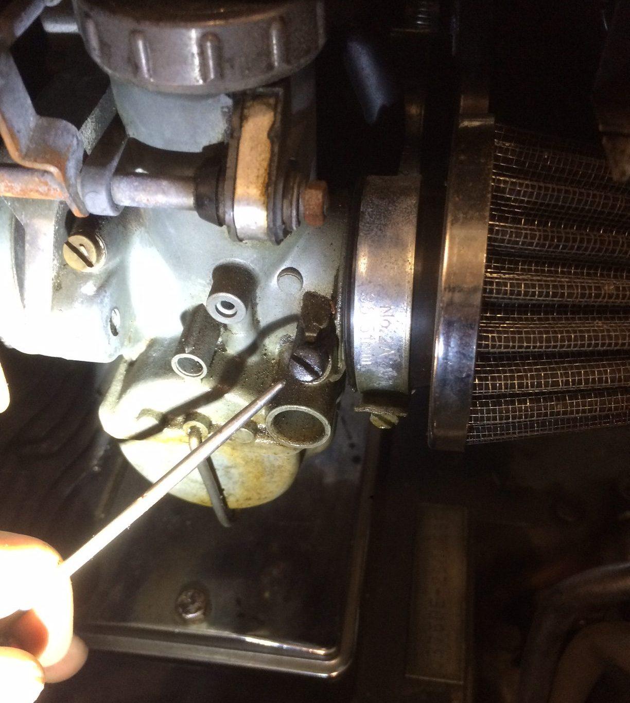 Air adjustment screw